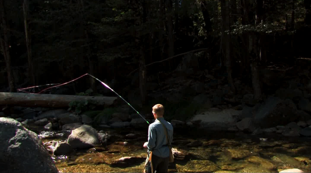 Accurate casting is a big part of tenkara