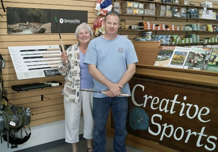 Creative Sports, manager:Lois, and store owner: Jamie