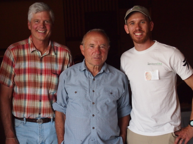 Craig Mathews and Yvon Chouinard at the Tenkara Summit