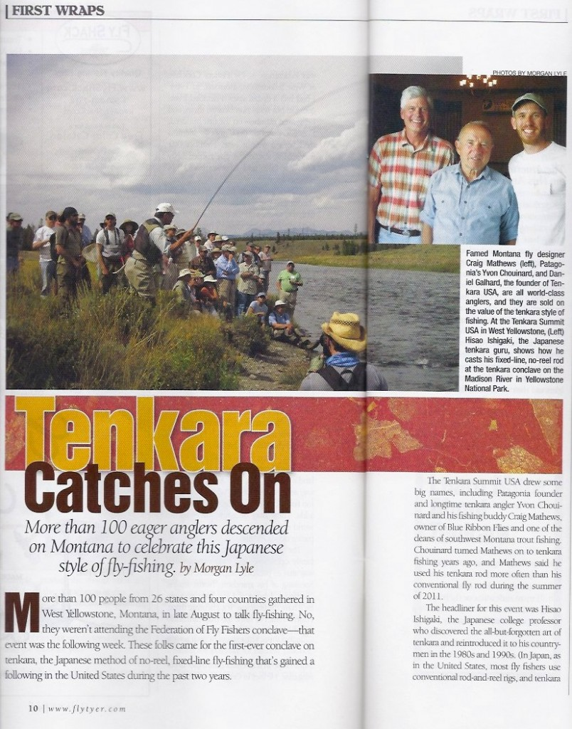 Tenkara Catches on Morgan Lyle for Fly Tyer magazine