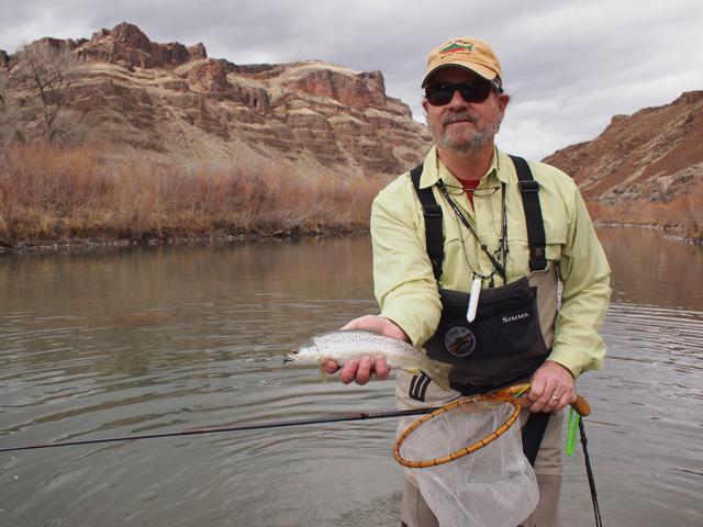 Rick Williams of Idaho Angler with tenkara