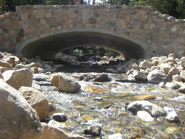Tenkara fishing under bridges