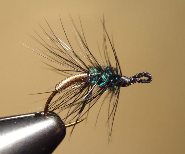 Gold & Peacock Palmered Tenkara Fly