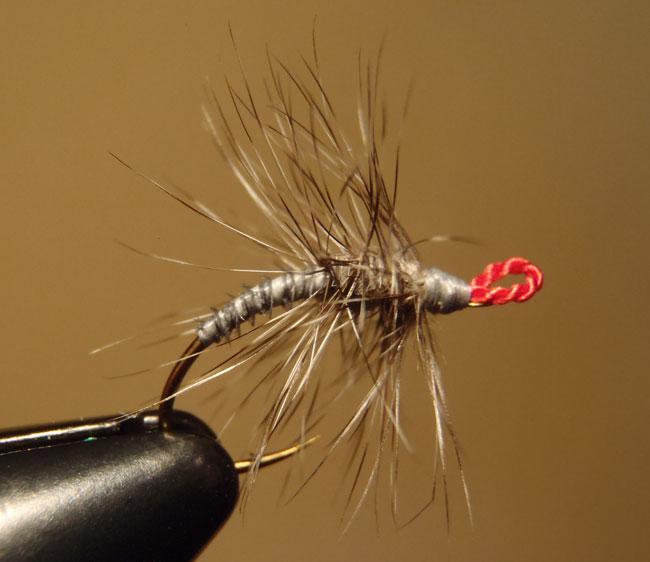 Grey Palmered Tenkara Fly