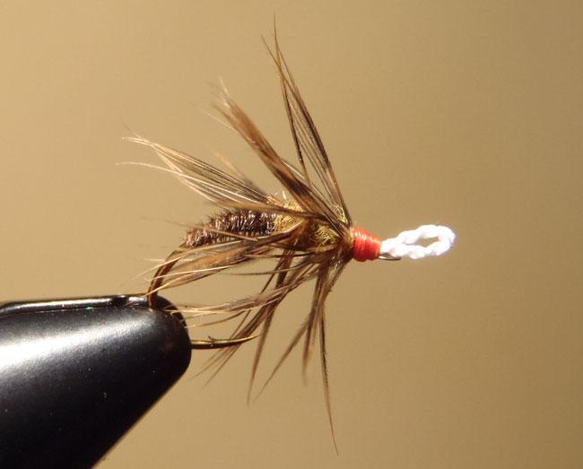 Brown & Orange Palmered Tenkara Fly
