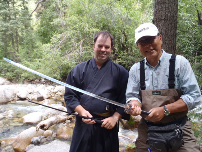 Dr. Ishigaki trades his tenkara rod for a Samurai sword