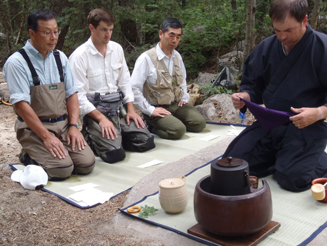 John preparing the tea ceremony