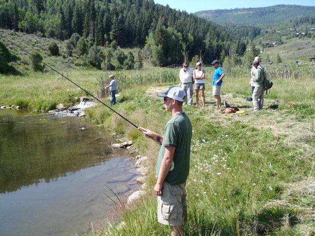 Tenkara fishing with veterans