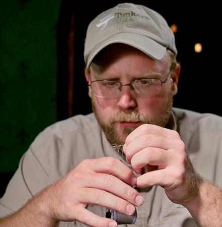 John Geer tying a tenkara fly