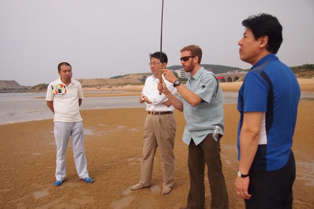 Teaching tenkara in China