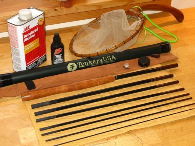 Tenkara rod taken apart