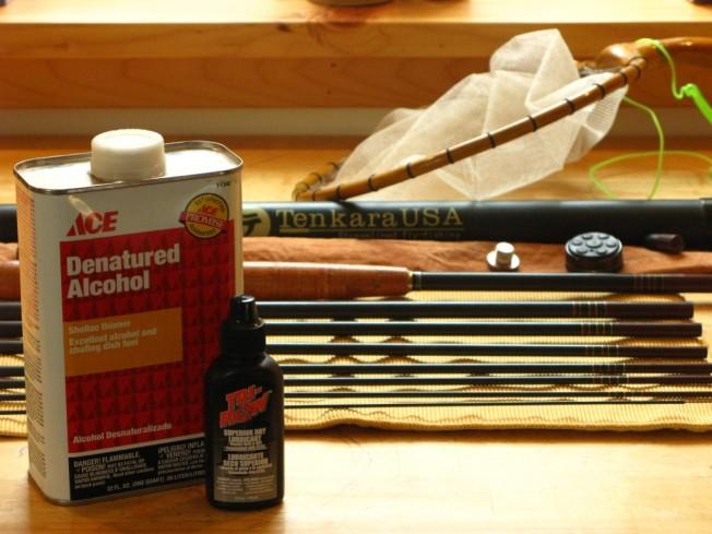 Cleaning a tenkara rod
