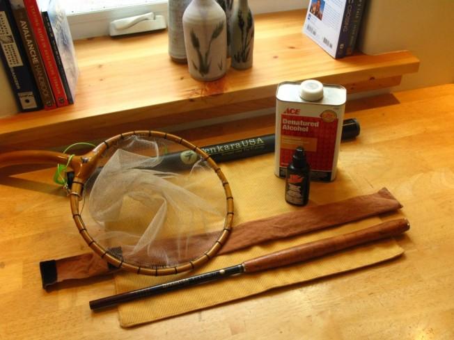 Cleaning tenkara rod and tenkara net
