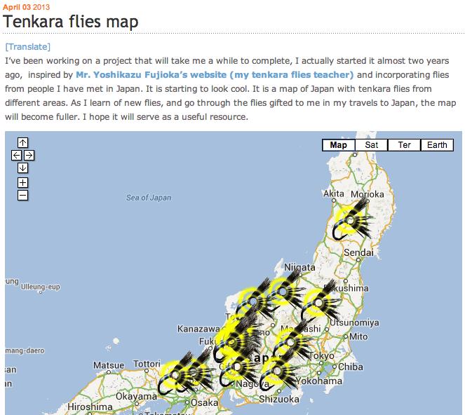 Tenkara Flies Map