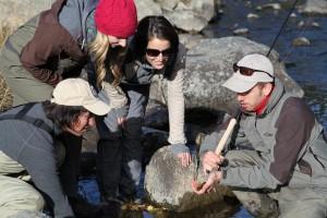 Women Tenkara fishing in Colorado with Tenkara USA