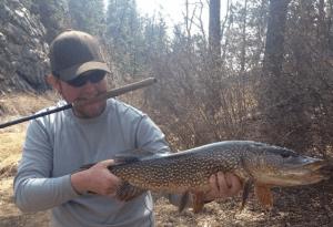 Pike caught on tenkara