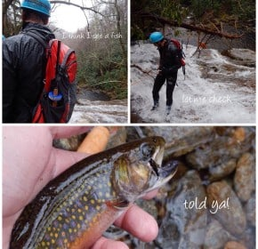 Tenkara and canyoneering