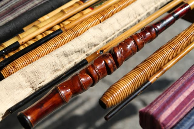 Tenkara bamboo rod handle