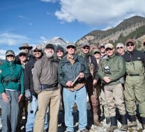 Tenkara clinic at Rocky Mountain National Park