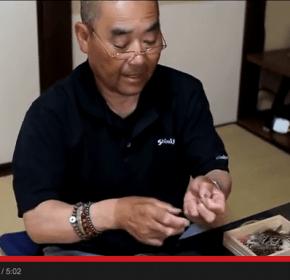 Mr. Amano shows us how to tie the Amano kebari
