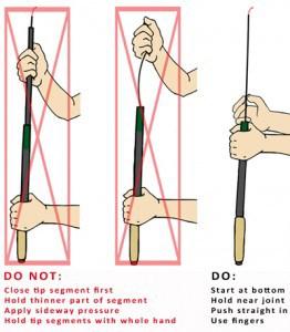 Stuck tenkara rod segments