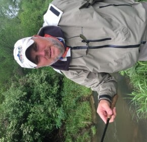 Mike Warrent tenkara guide Driftless region Wisconsin