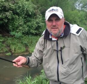 Mike Warrent tenkara guide Driftless region Wisconsin