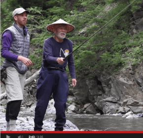 Daniel learn tenkara with Mr. Sebata in Japan