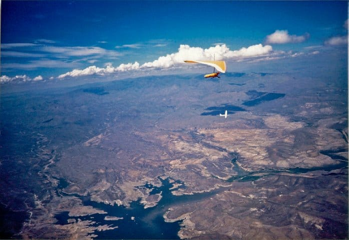 Adam Trahan hang gliding