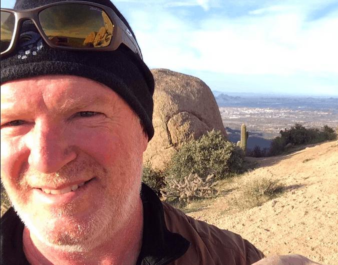 Adam Trahan hiking Phoenix