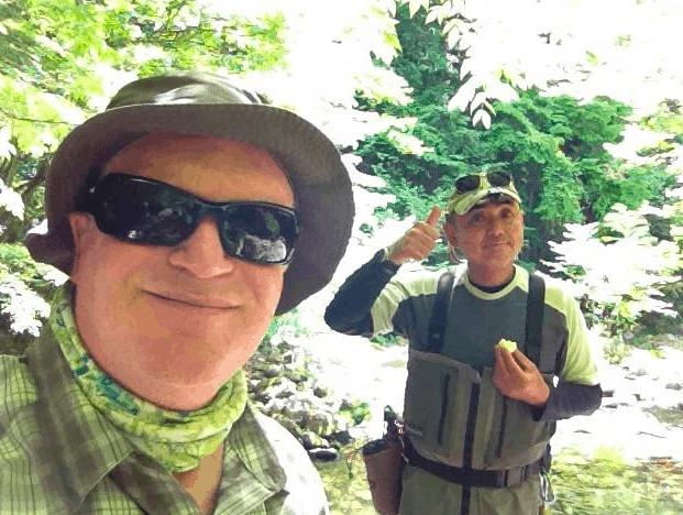 Adam fly fishing in Japan