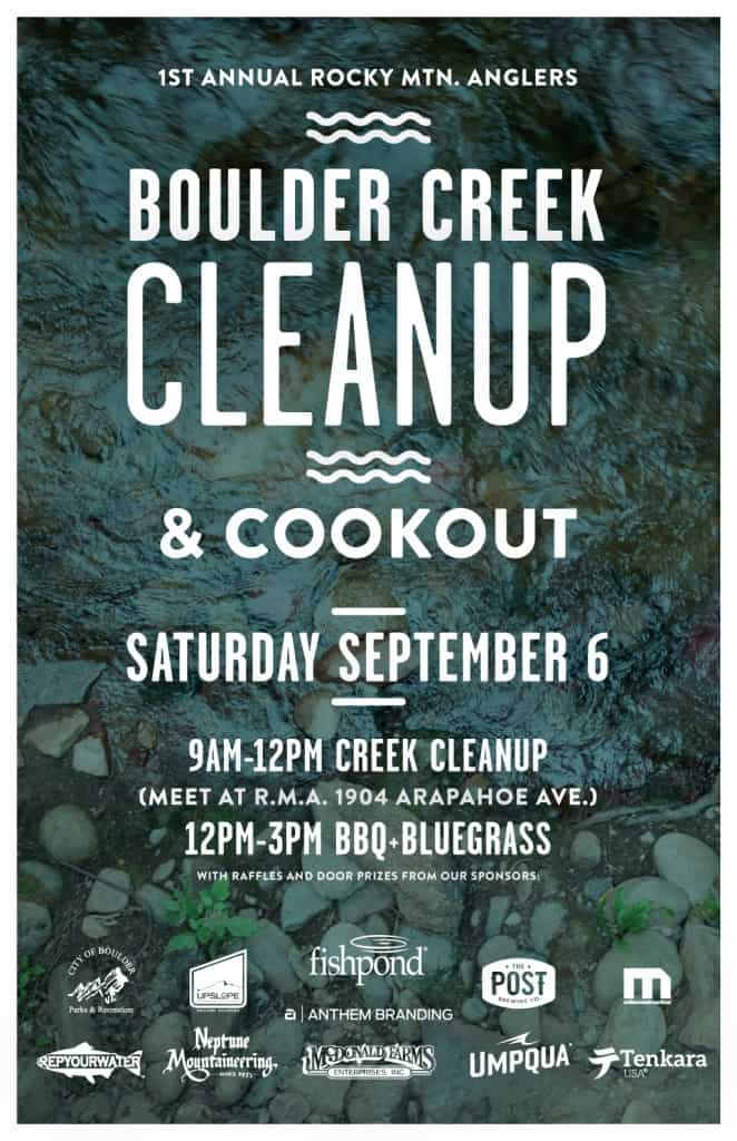 Boulder Creek Cleanup Tenkara giveaways