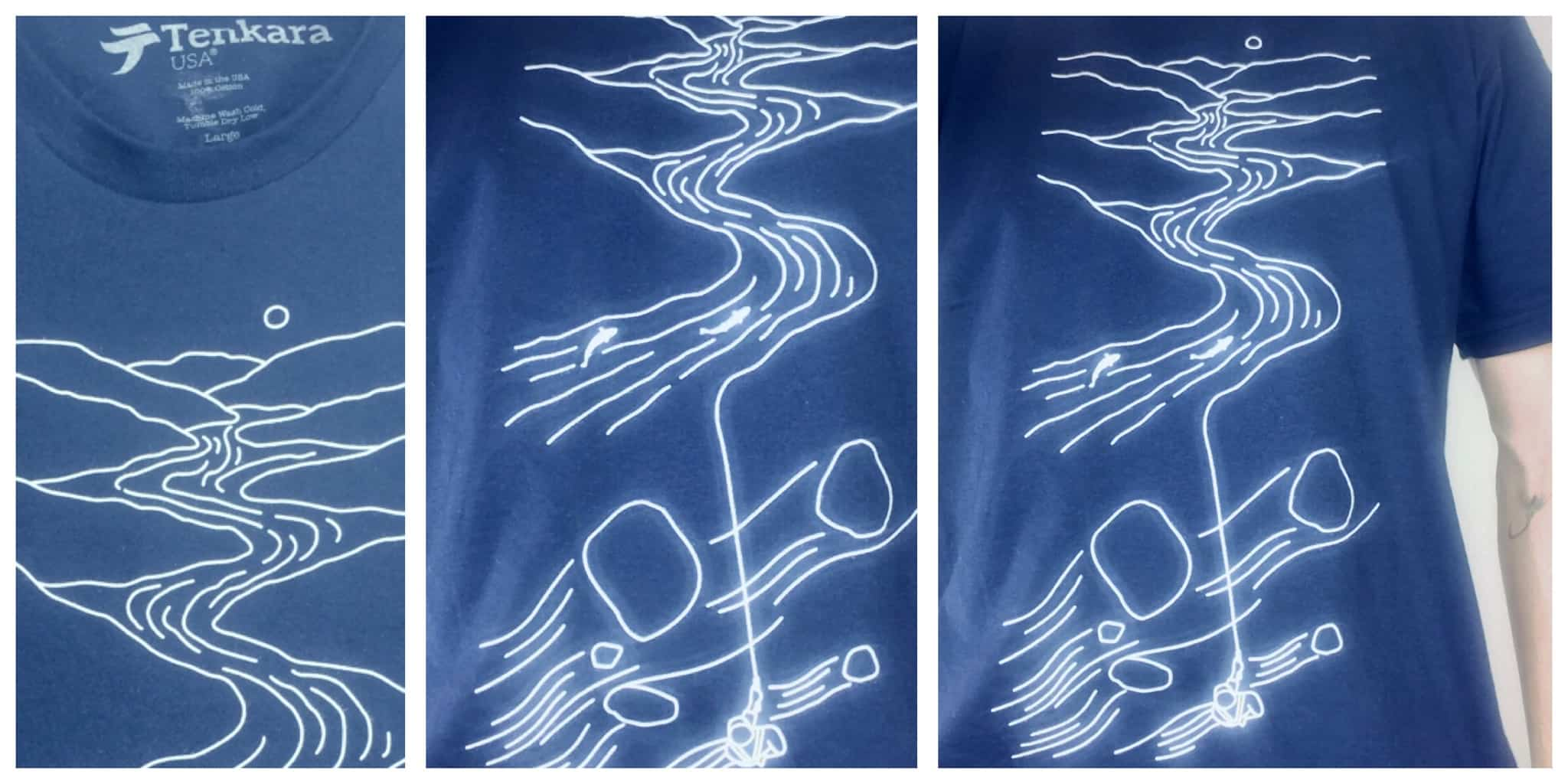 Tenkara line drawing shirt