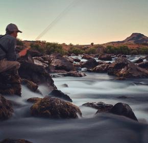 Long exposure fishing shot