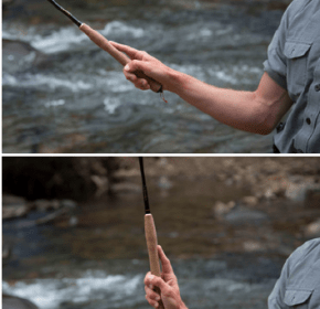 tenkara casting wrist movement