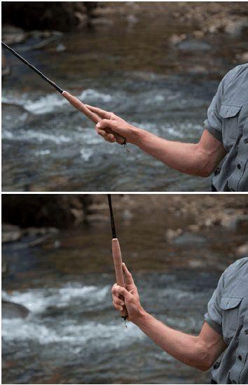 tenkara casting wrist movement