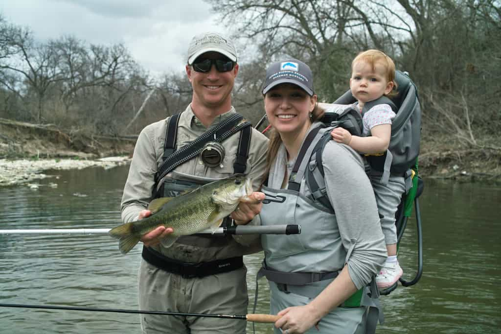 Chris and his family with a nice bass