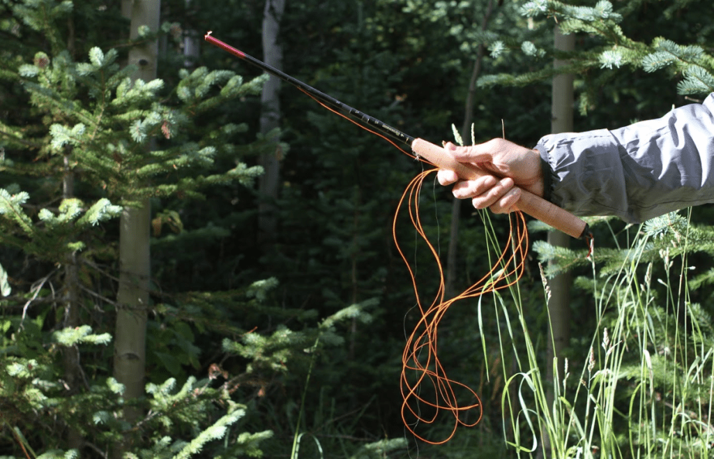 tenkara line management: loose coils for short distances