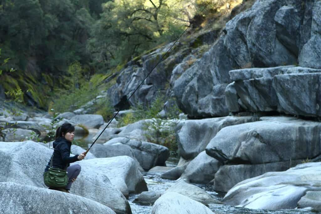 Sierra tenkara fishing