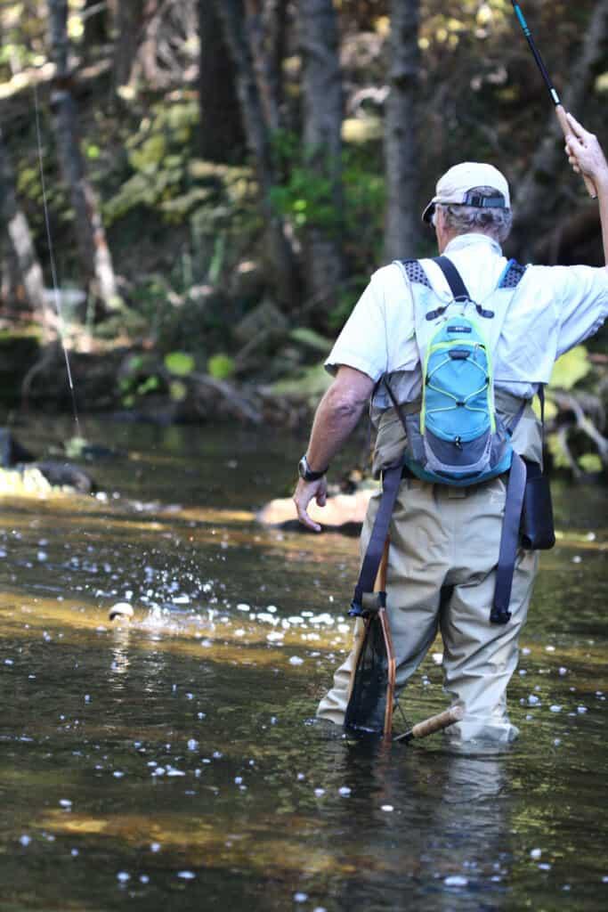 Northern Sierra tenkara fishing with Iwana rod