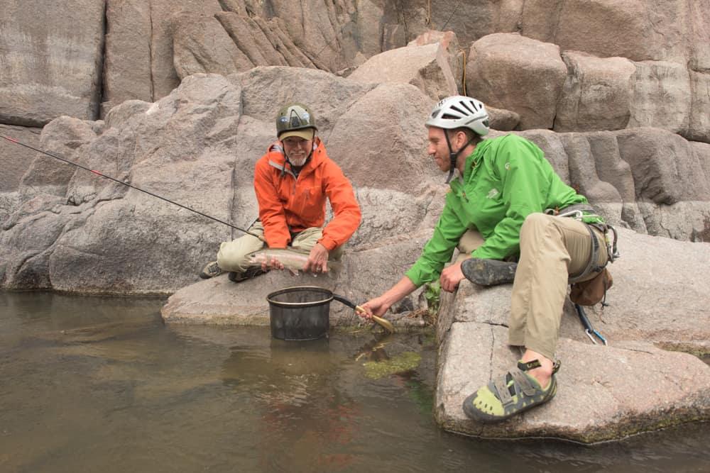 tenkara fishing and climbing