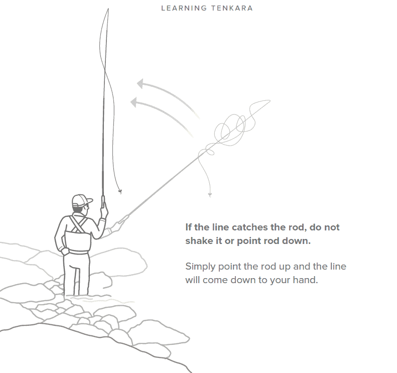 fixing a tenkara rod tangle